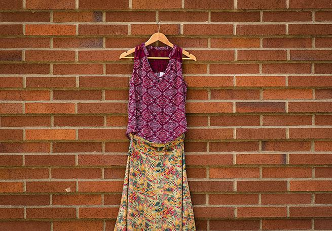 Bohemian skirt and a top